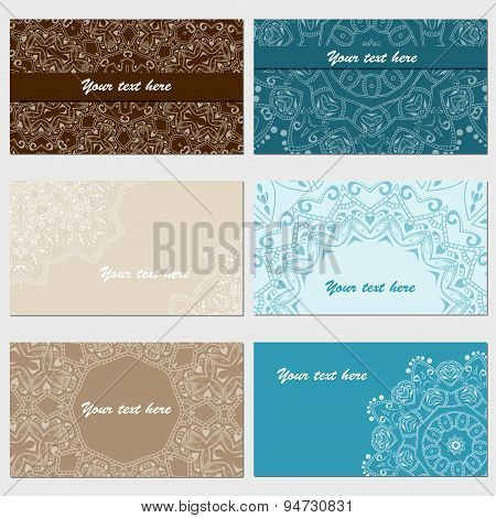 Set Of Six Business Cards
