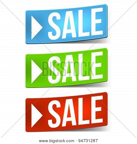 Three Sale Stickers