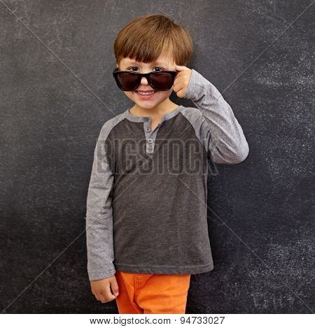 Cool Young Boy In Shades