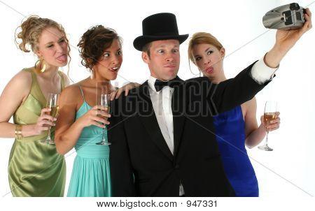 Grupo formal com câmera