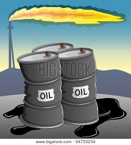 Three barrels of oil