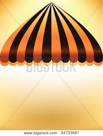 Striped Shop Awning With Space Background