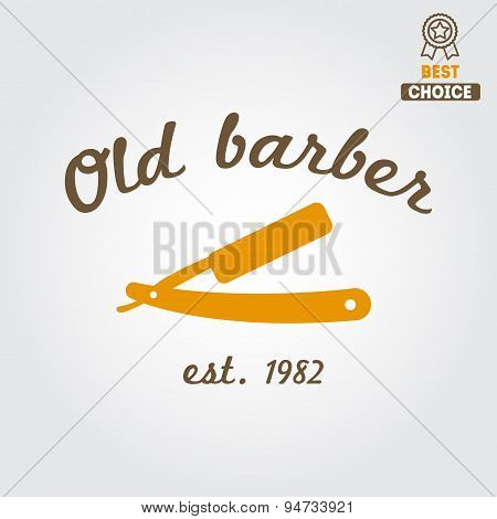 Vintage barber shop logo, labels, badges and design element
