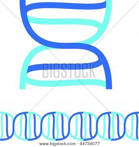 Dns Spiral Chain Seamless Vector Symbol