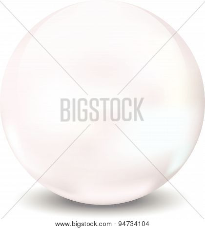 Pear 3D Vector Illustration Sphere Icon Ball