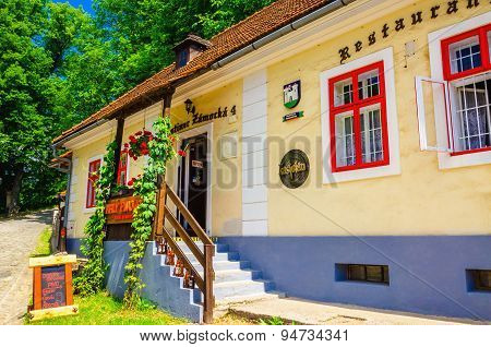 Typical Slovak restaurant in Orava Castle