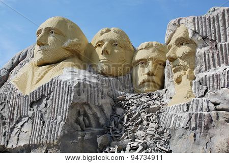 Mount Rushmore at Legoland Resort