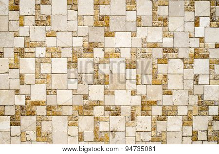 Decorative Relief Cladding Slabs Imitating Stones Closeup