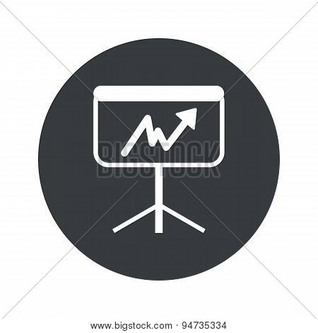 Monochrome round graphic presentation icon
