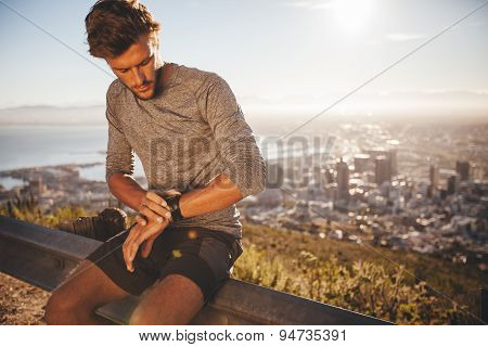 Young Man Preparing For A Run