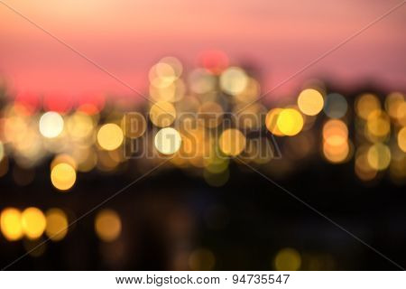 Photo blur bokeh night lights Kiev.