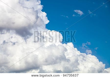 Fluffy Clouds On The Sky