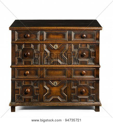 Old Antique European Chest Of Drawers