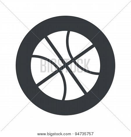 Monochrome round basketball icon