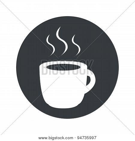 Monochrome round hot drink icon