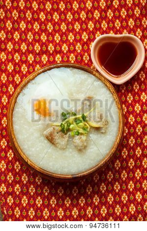 Porridge With Egg And Liver.