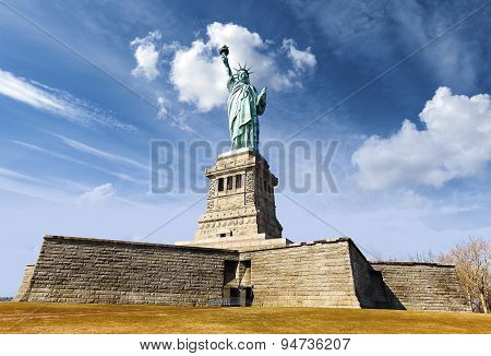 Statue Of Liberty In New York City, Usa.