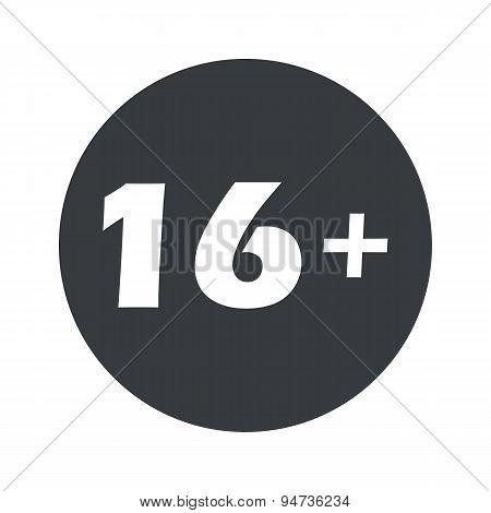 Monochrome round 16 plus icon