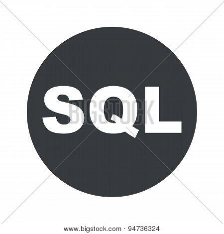 Monochrome round SQL icon