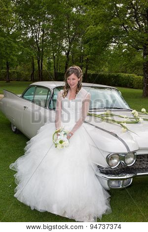 Lovely And Happy Bride On Happy Wedding Day