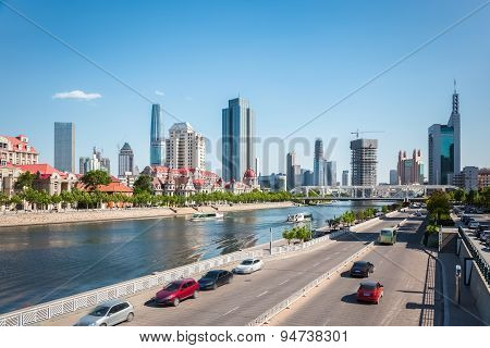 Tianjin Haihe River In The Afternoon