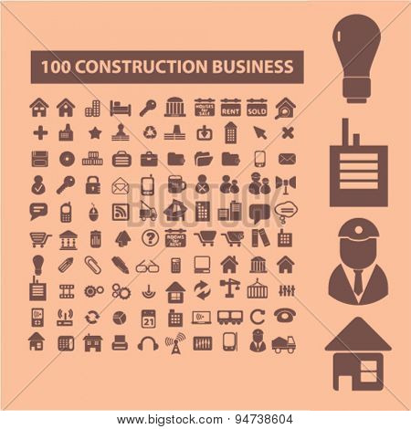 construction icons, illustrations