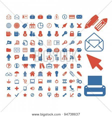 office icons, illustrations