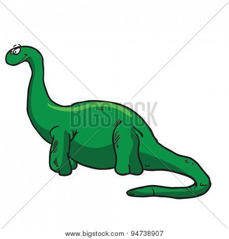 dinosaur cartoon illustration isolated on white