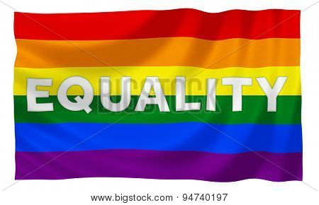 Gay rainbow equality flag