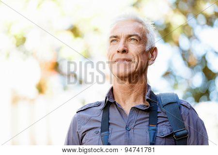 Portrait of handsome man outdoors