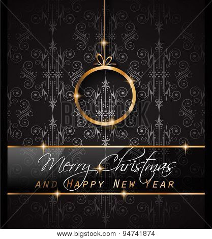 2016 Merry Chrstmas and Happy New Year Background for your dinner invitations, festive posters, restaurant menu cover, book cover,promotional depliant, Elegant greetings cards and so on.