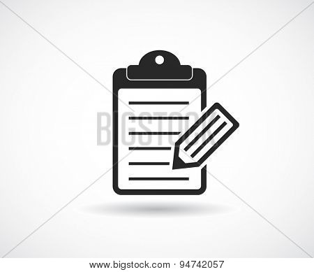 checklist clipboard icon with pencil design