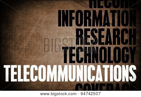 Telecommunications Core Principles as a Concept Abstract background