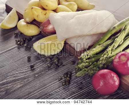 Cooking Ingredients With Cod Fillets
