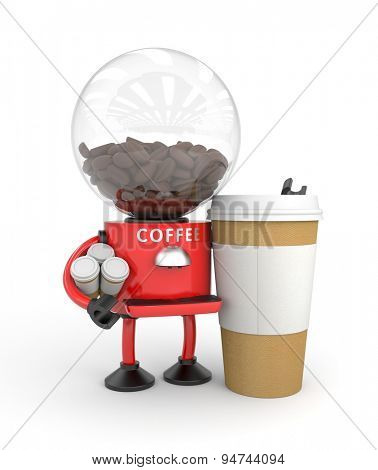 Robot coffee machine