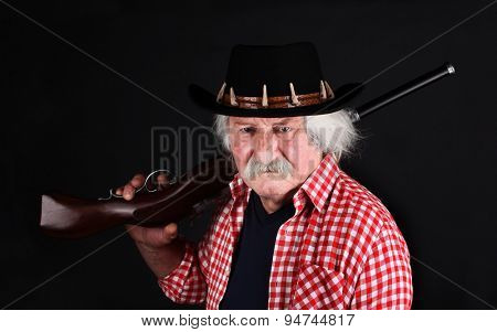 Old man with rifle