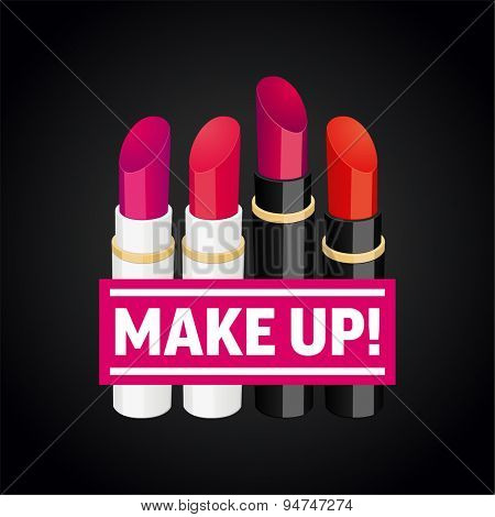 Lipsticks with a banner