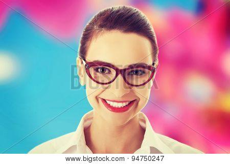 Portrait of a happy beautiful woman