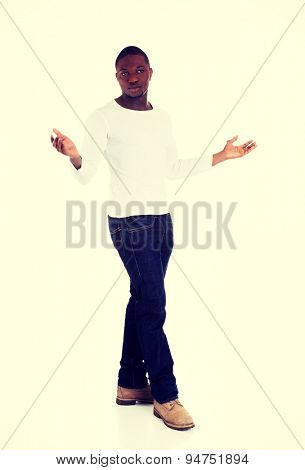 Black confident men with crossed arms