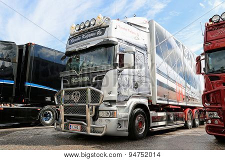Scania R560 Of Karelia Kuljetus Oy At Riverside Truck Meeting 2015