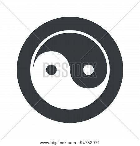Monochrome round ying yang icon
