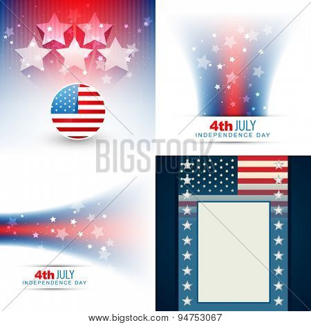 vector collection of american flag design illustration with creative style