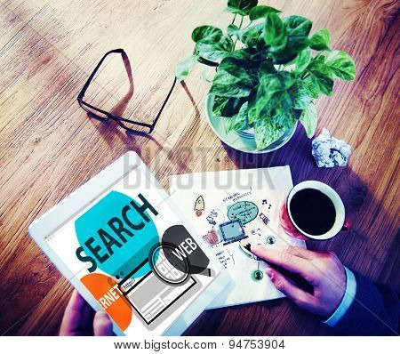Search Online Digital Browsing Technology Concept