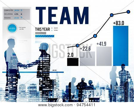 Team Teamwork Corporate Data Analysis Concept