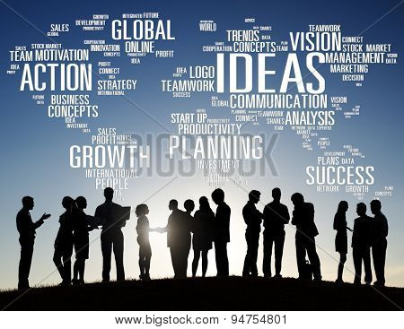 Global Business People Discussion Creativity Ideas Concept