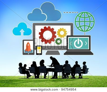Cloud Data Storage Database Online Technology Concept