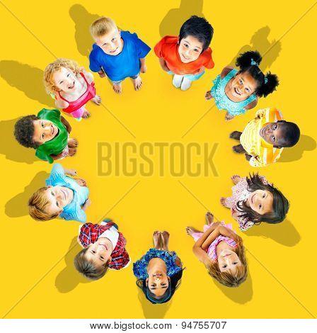 Kids Children Group Concept