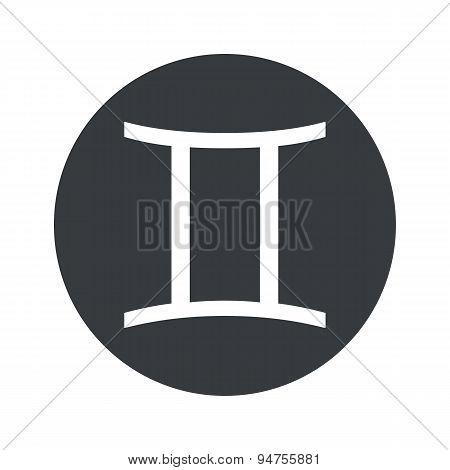 Monochrome round Gemini icon