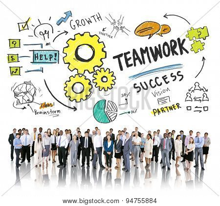 Teamwork Team Together Collaboration Corporate Business People Concept
