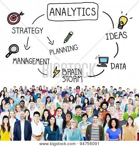 Analytics Ideas Strategy Brainstorm Information Concept